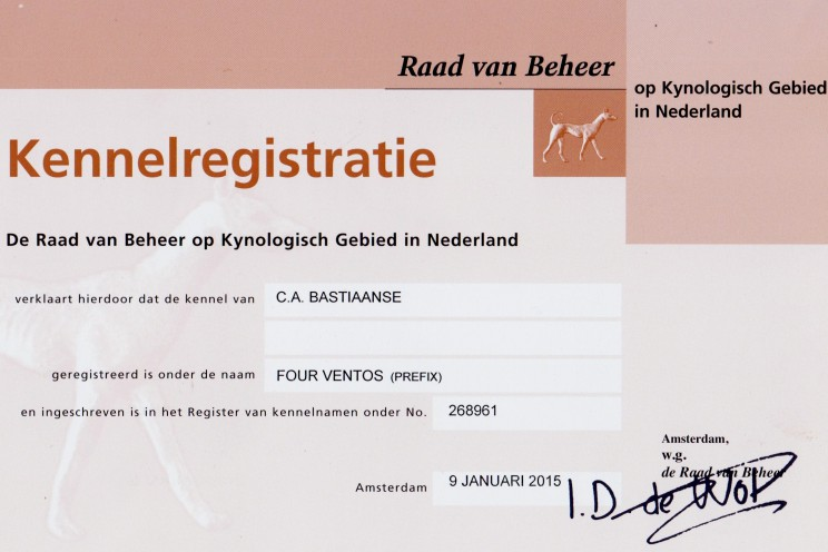 Four Ventos Registratie